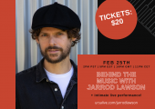 Singer/songwriter/pianist Jarrod Lawson's First Virtual Concert of 2021 with URSA Live on Thursday, Feb 25th